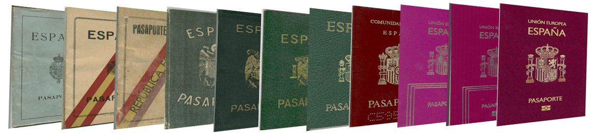 Abre ventana nueva. Montaje fotográfico evolución de los pasaportes en España